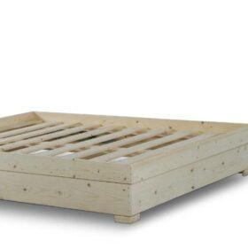 בסיס עץ מלא עם ארגז