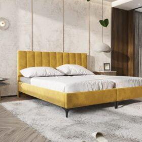 חדר שינה מודרני מיטה יהודית בגוון צהוב